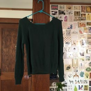 Slouchy wide neck sweater
